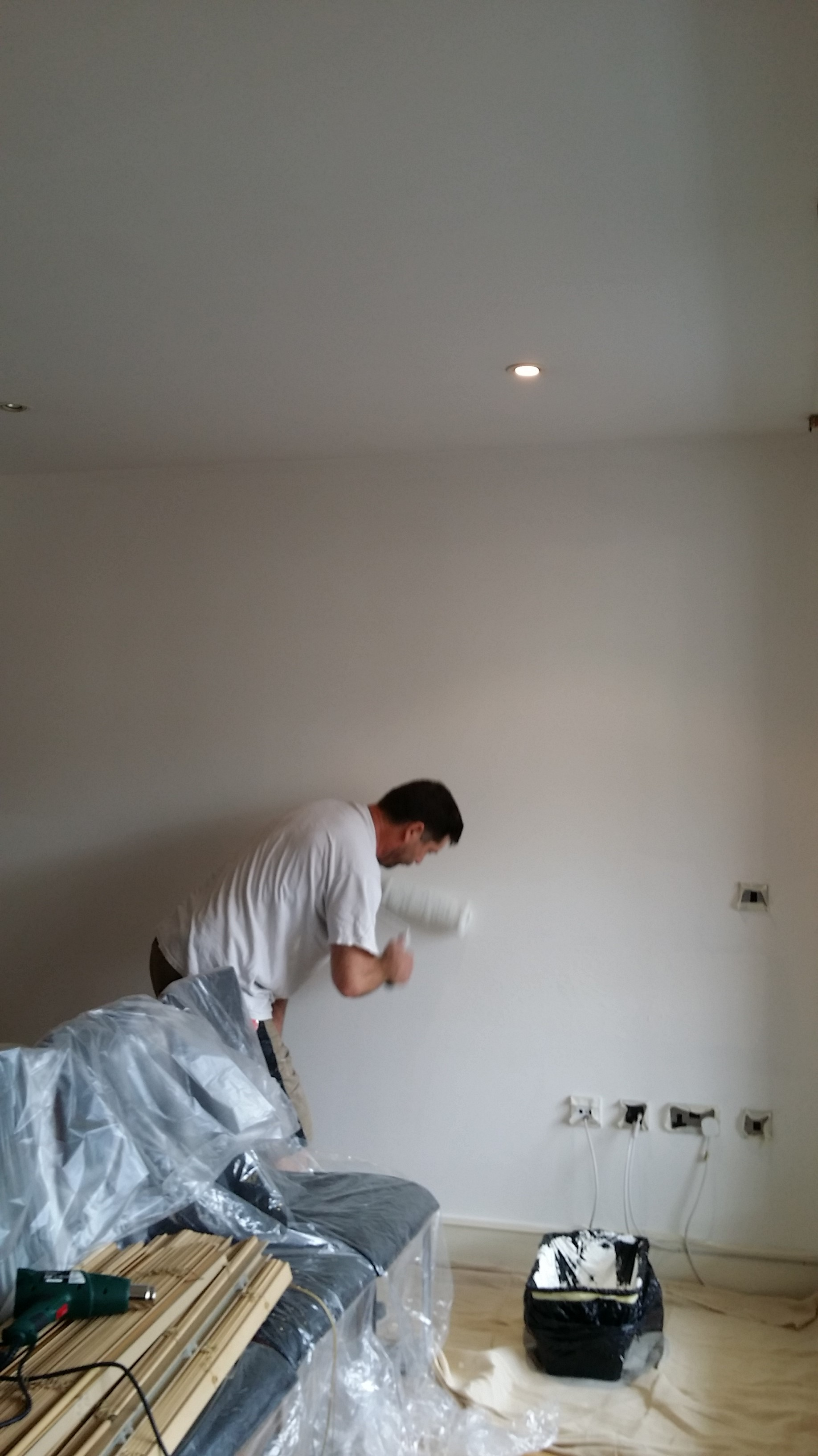 Painting the living room London