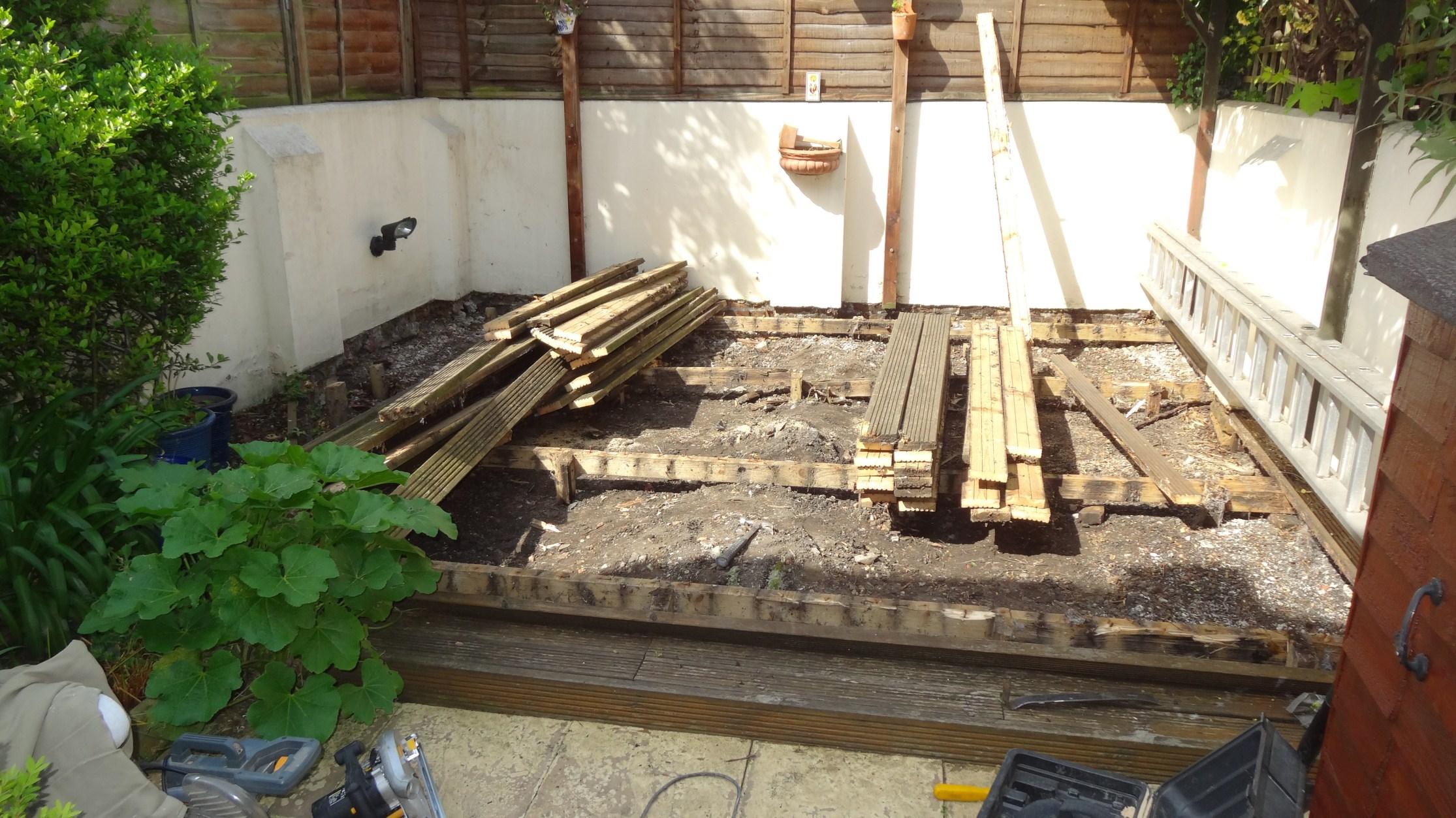 Installing new garden patio London