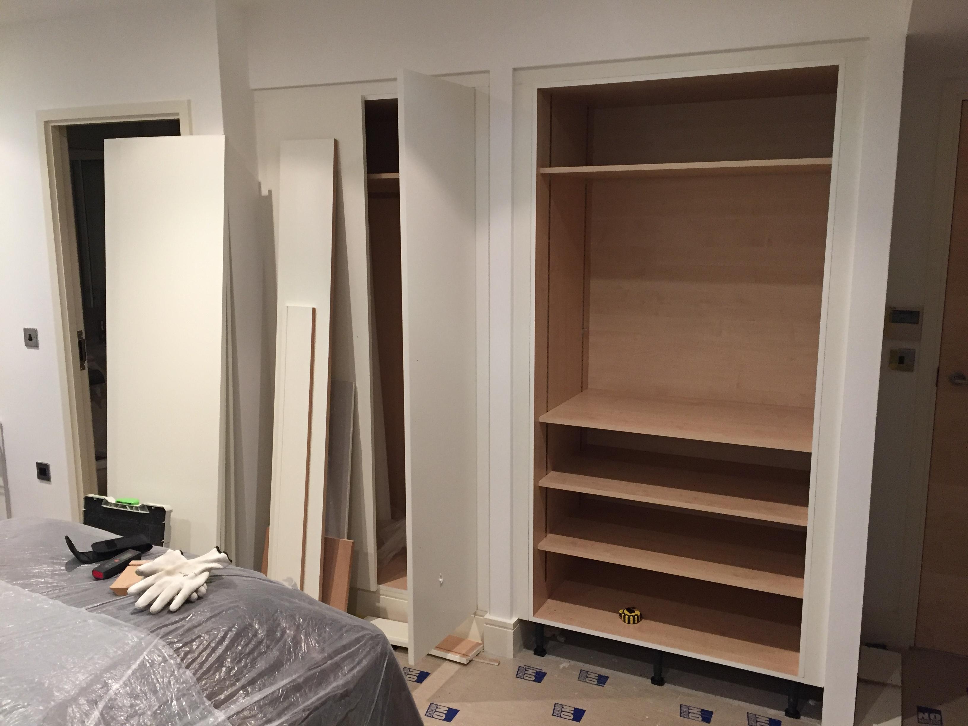 build in wardrobe fixing in London