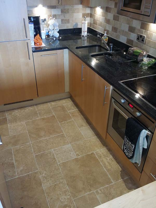 Installation Of Floor Tiles In The Kitchen London Milada Company