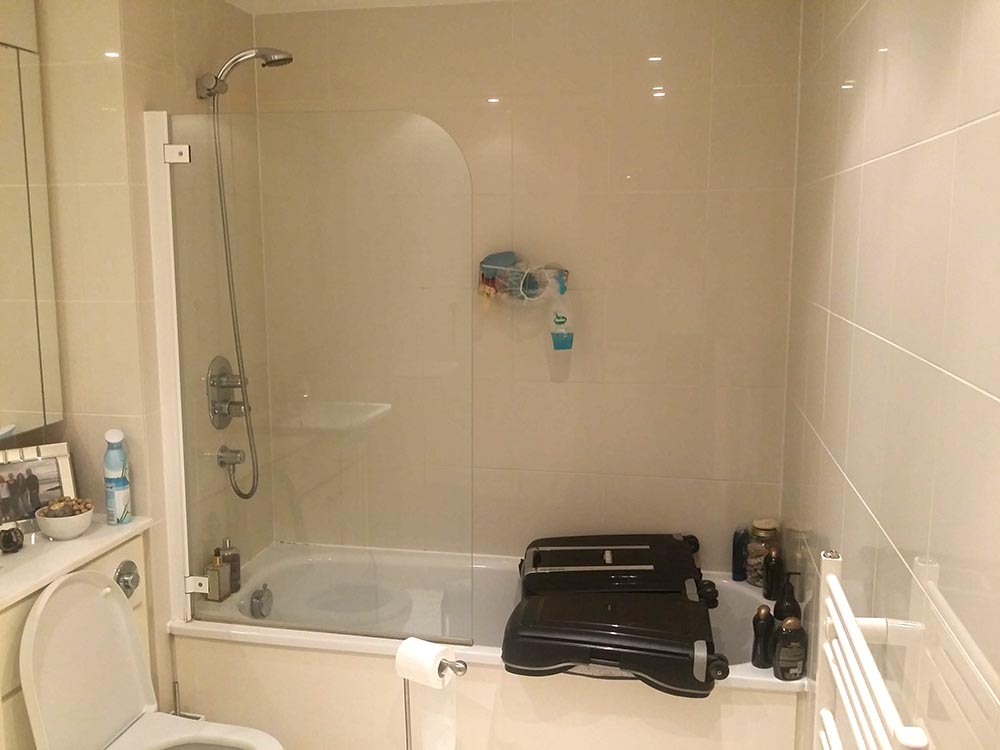 replacing an old bathroom with a new walk in shower London